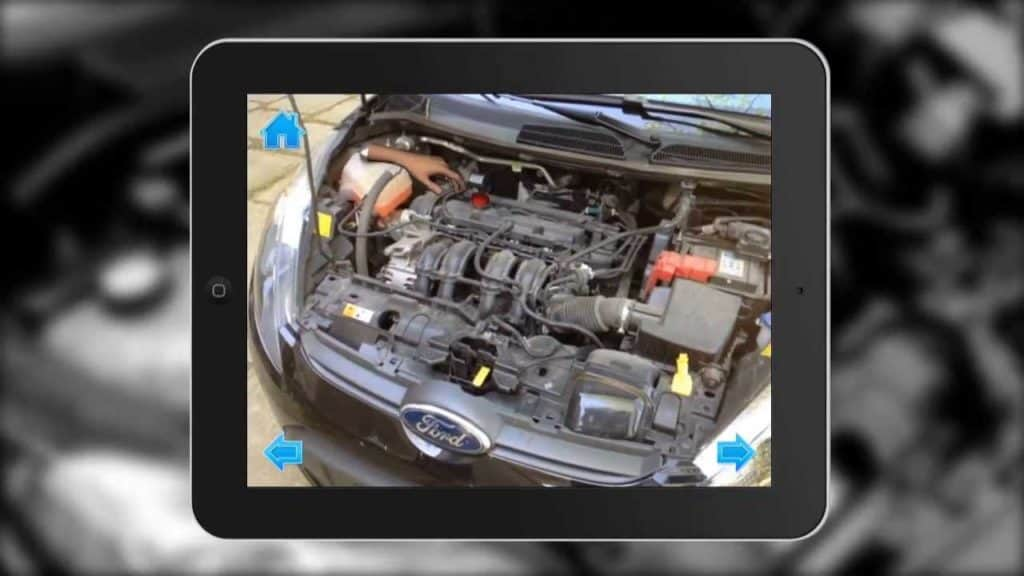 Augmented Reality SDK Object Recognition car engine