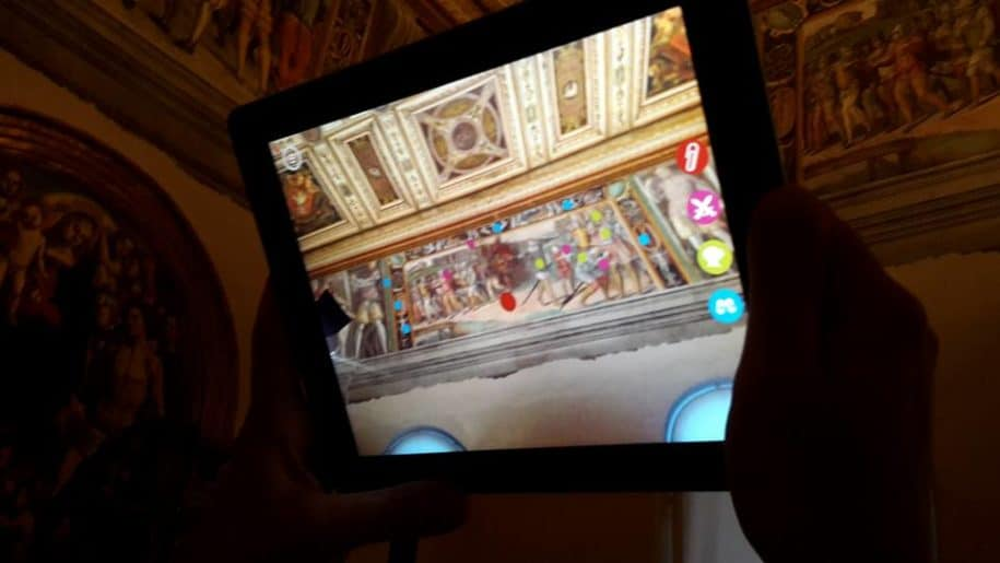 National Gallery of Umbria tablet augmented reality art