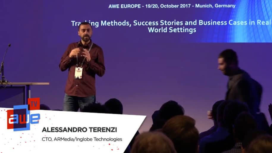 Alessandro Terenzi, CTO at Inglobe Technologies, speaking at AWE Europe 2017