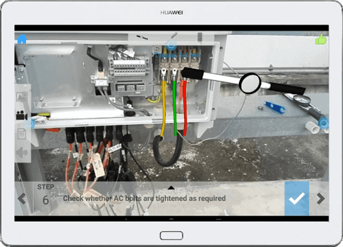 Industrial Augmented Reality Application on a Tablet