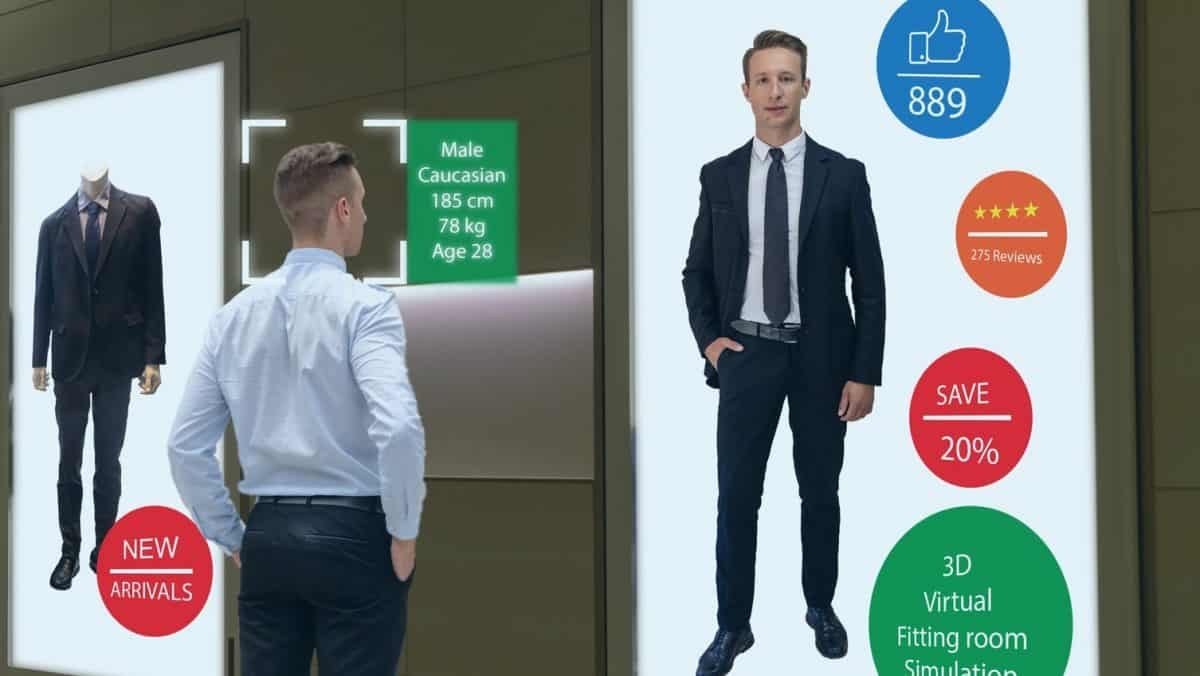 Augmented Reality interactive mirror for retail sales