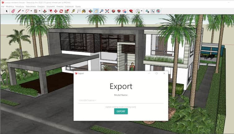AR-media Plugin Sketchup Exporter Extension 3D model for Augmented Reality