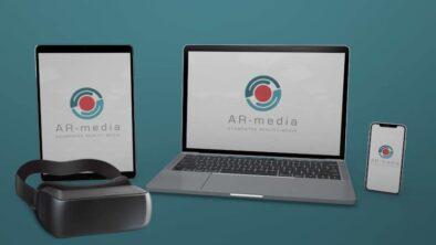 AR-media Plugins and Platform on laptop, tablet,smartphone and VR headset