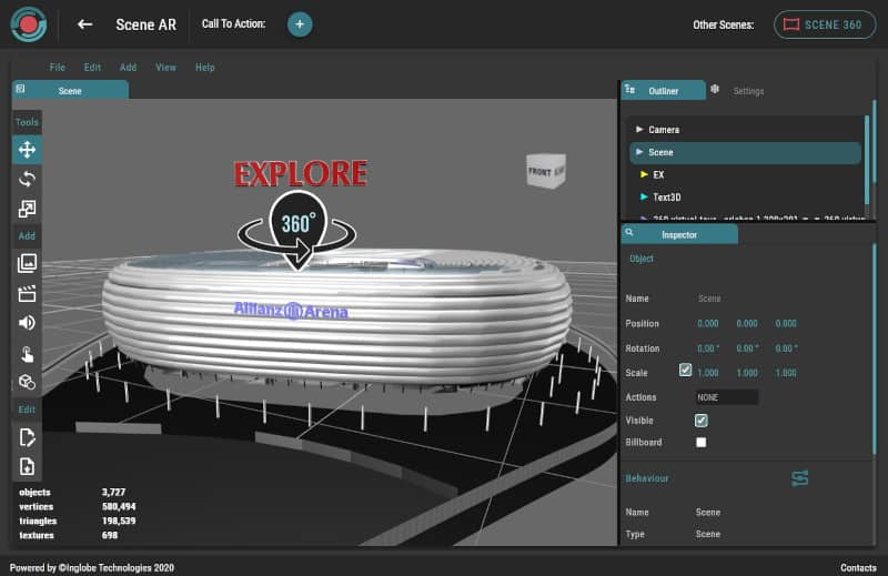 AR-media Studio 3D web editor for Augmented Reality
