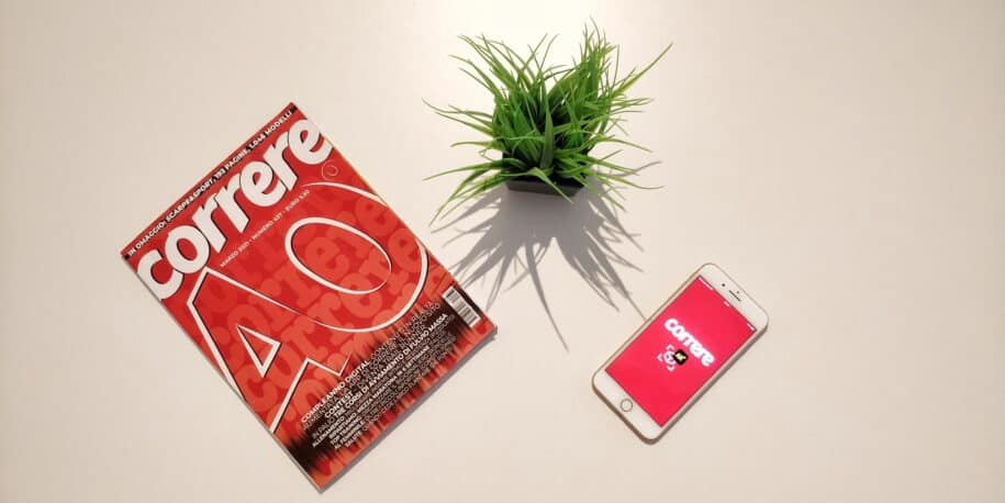 Runners Magazine Correre offers AR to its Italian readers