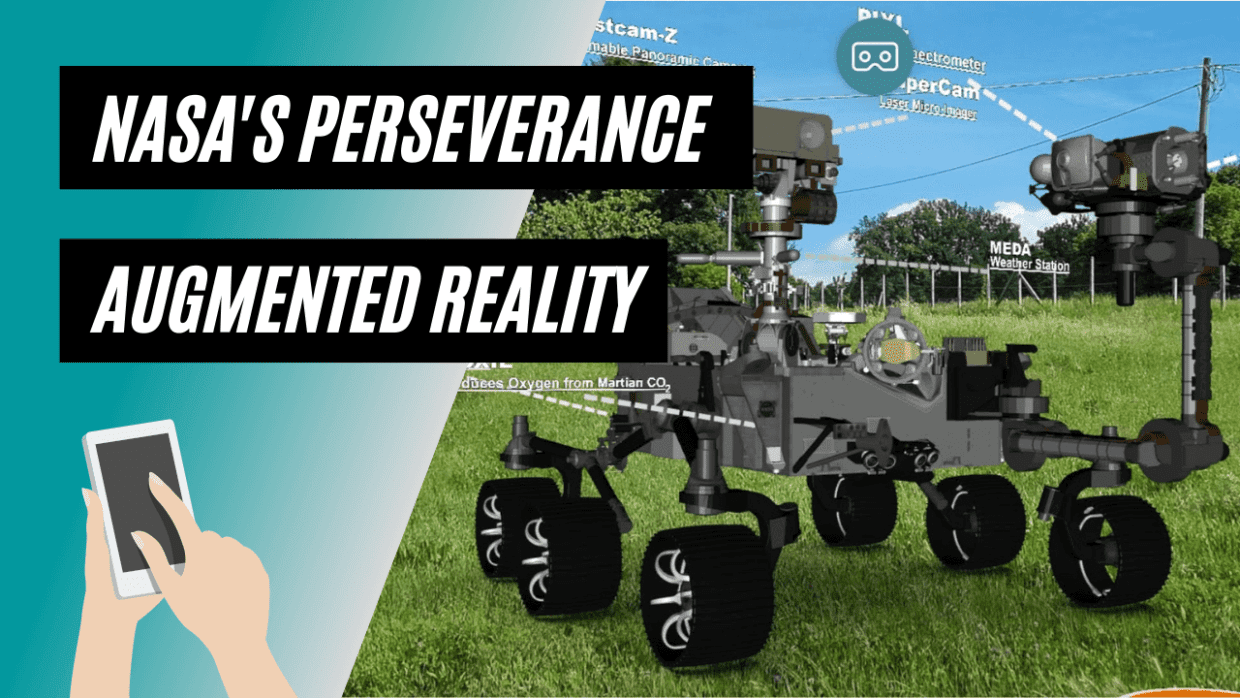 Exeperience NASA's Mars Perseverance in Augmented Reality with AR-media