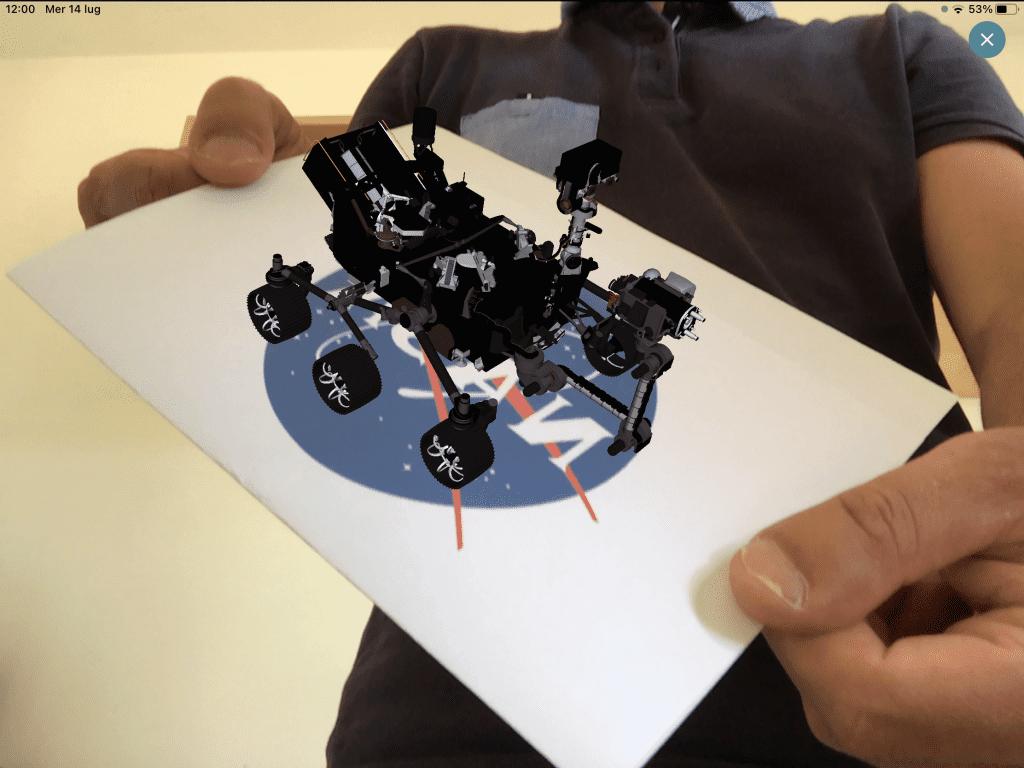 AR-media Player front camera planar experience