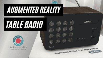 Augmented Reality table radio made with AR-media