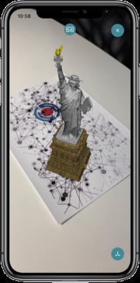 AR-media app on iPhone